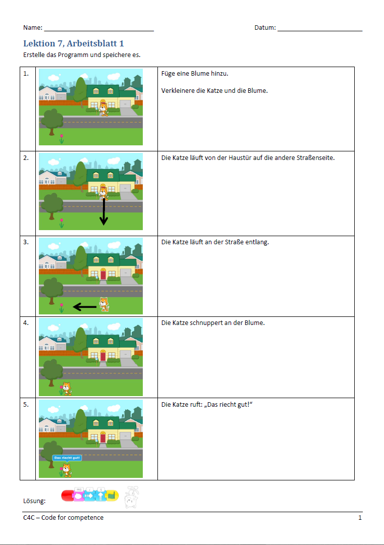 Geschwindigkeit und Sprechblase · C4C — code for competence